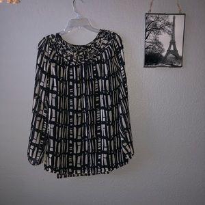 Flowing long sleeve blouse